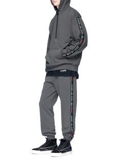 Alexander Wang  'Bolo' slogan stripe hoodie