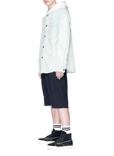 Alexander Wang  Contrast hood denim shirt
