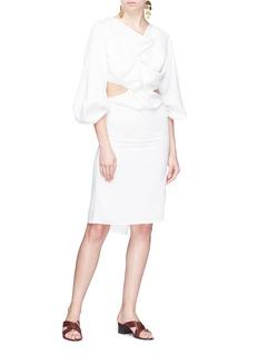 JH.ZANE 'Moana' cutout twist waist sash tie dress