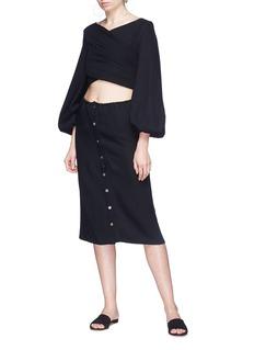 JH.ZANE Cutout waist tie back dress