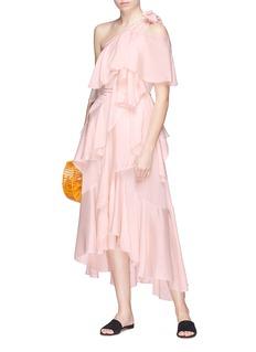 JH.ZANE 'Rina' ruffle one-shoulder dress