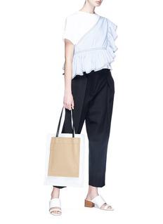 3.1 PHILLIP LIM 荷叶边条纹布饰拼接纯棉T恤