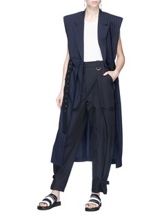 3.1 Phillip Lim Belted pinstripe virgin wool long vest