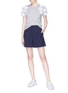 Minki 花卉装饰纯棉T恤