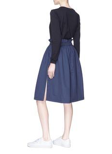 Minki Drawcord long sleeve T-shirt panel nylon dress