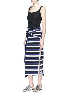 3.1 Phillip Lim Twist stripe wrap maxi skirt