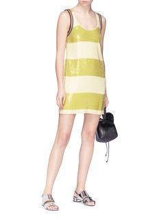 3.1 Phillip Lim Stripe sequin tank dress