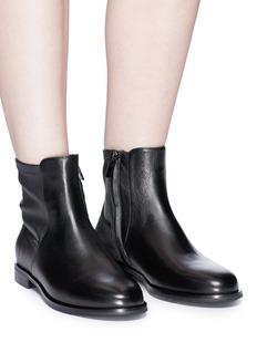 PEDDER RED 拼接设计真皮短靴