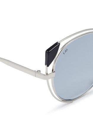 Detail View - Click To Enlarge - For Art's Sake - 'Skylar' cutout metal mirror cat eye sunglasses