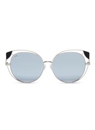 Main View - Click To Enlarge - For Art's Sake - 'Skylar' cutout metal mirror cat eye sunglasses
