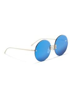 For Art's Sake 'Vermeer' faux pearl embellished metal round sunglasses