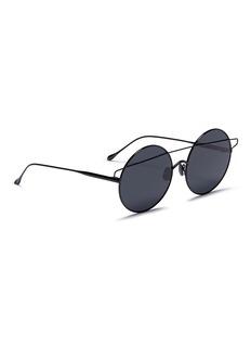 For Art's Sake 'Mykonos' brow bar metal mirror round sunglasses