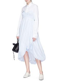 3.1 Phillip Lim Bubble hem cutout poplin dress