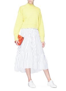 3.1 Phillip Lim Corset waist stripe poplin skirt