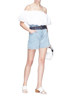 3.1 Phillip Lim Puffed off-shoulder cropped top