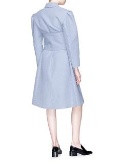 Shushu/Tong Puff shoulder belted gingham check coat