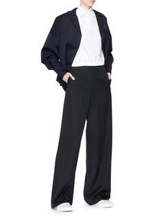 Shushu/Tong Cocoon sleeve wool suiting jacket