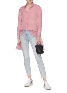 Current/Elliott 'The Ultra High Waist' frayed cuff skinny jeans