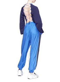 FENTY PUMA by Rihanna Lace-up open back cropped sweatshirt