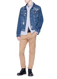 Scotch & Soda 'Souvenir Blauw' mix pin denim jacket