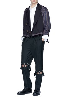 Junwei Lin Cutout knee pants