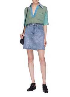Acne Studios 'Sharmayne' sequin embroidered denim skirt