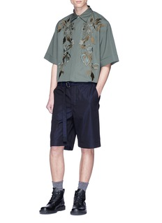 Dries Van Noten Floral embroidered short sleeve shirt