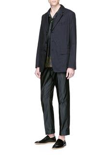 DRIES VAN NOTEN Carlton oversize花卉刺绣条纹衬衫