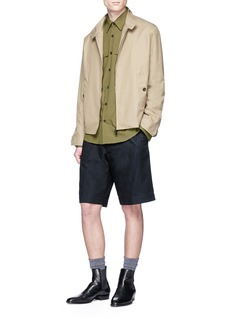 Dries Van Noten 'Pasadena' stripe ribbon tape twill Bermuda shorts