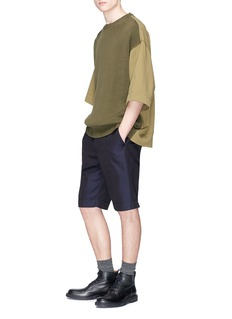 Dries Van Noten Jersey panel short sleeve sweater