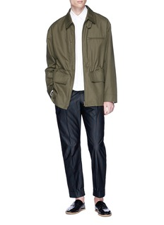 Dries Van Noten 'Vetch' retractable hood twill shirt jacket