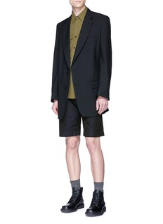 Dries Van Noten 'Barlow' wool hopsack soft blazer