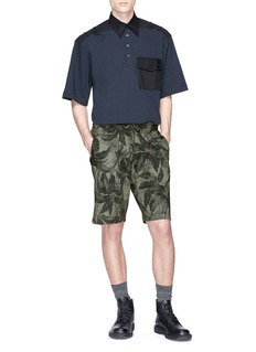 Dries Van Noten Palm tree print sweat shorts
