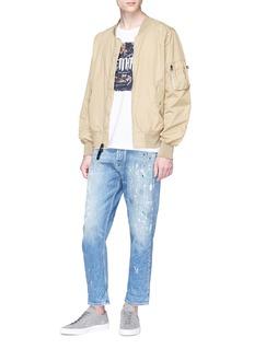 Denham Paint splatter cropped jeans