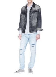 Denham 'Amsterdam' distressed denim jacket
