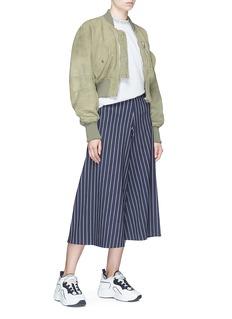 Acne Studios 'Saski' lambskin suede cropped bomber jacket