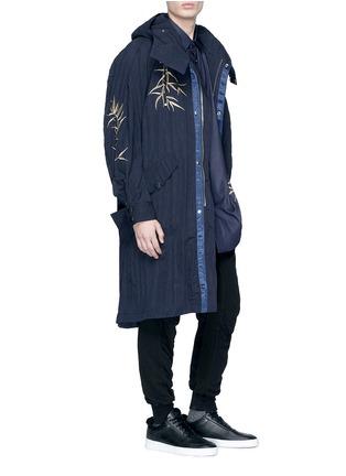 - Angel Chen - Tiger leaf embroidered unisex windbreaker jacket