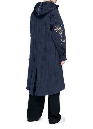 Back View - Click To Enlarge - Angel Chen - Tiger leaf embroidered unisex windbreaker jacket