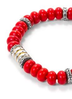 John Hardy 'Bedeg' beaded silver bracelet