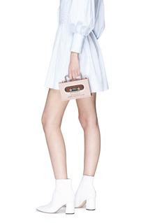 Cecilia Ma 'Walkman' patch acrylic box clutch