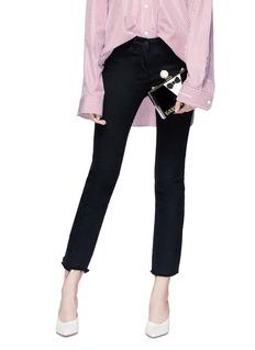 Cecilia Ma 'Jay' tuxedo patch acrylic box clutch