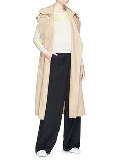 Matilde Pointelle intarsia stripe cashmere cardigan