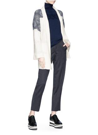 Figure View - Click To Enlarge - Matilde - Frayed diamond intarsia cashmere turtleneck sweater