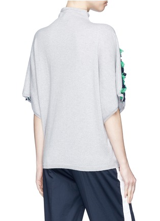 Back View - Click To Enlarge - Matilde - Frayed diamond intarsia cashmere sweater