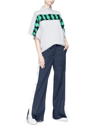 Figure View - Click To Enlarge - Matilde - Frayed diamond intarsia cashmere sweater