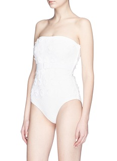 Zimmermann 'Lumino Daisy' floral appliqué one-piece swimsuit