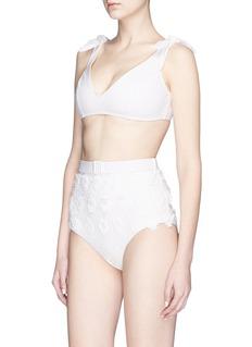 Zimmermann 'Lumino Daisy' floral appliqué bikini set