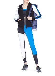 Alala 'Helix' colourblock cropped raglan zip hoodie