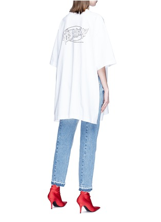 Back View - Click To Enlarge - Vetements - Logo print oversized unisex T-shirt