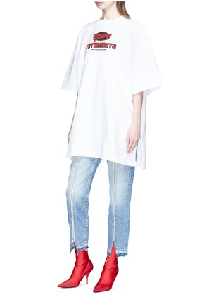 Front View - Click To Enlarge - Vetements - Logo print oversized unisex T-shirt